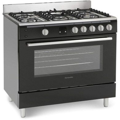 90cm Gas Oven Range Cooker In Black