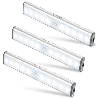 Motion Sensor Lights In White Strip Style