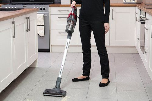 Cordless Battery Vacuum With White Wand