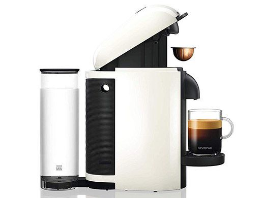 Small Pod Coffee Machine In White And Black