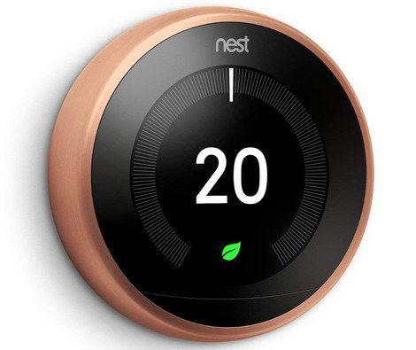 Round Thermostat With Bronze Rim