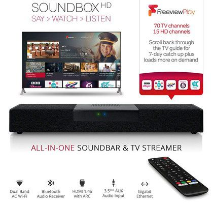 SoundBox TV Speaker Bar In Black Finish
