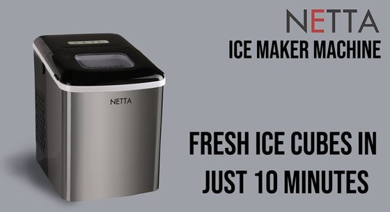 Home Ice Machine With Chrome Exterior