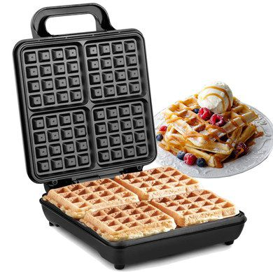 Big Cast Iron Waffle Maker In Black
