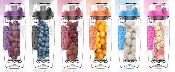 Water Bottle Fruit Infusers In 5 Colours
