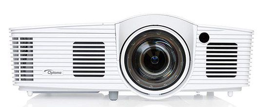 Film Projector In White Front View