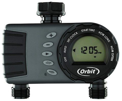 Digital Garden Tap Timer In Grey And Black