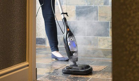 Upright Steam Cleaner Mop In Black Finish