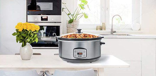 Electric Slow Cooker With See Through Lid