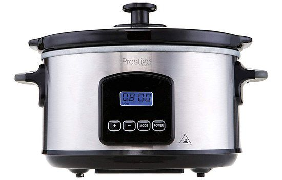 Compact Slow Cooker With Blue Screen