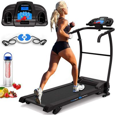 Girl In Motorised Folding Treadmill