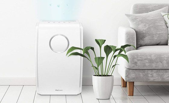 Domestic Air Purifier With Top Controls