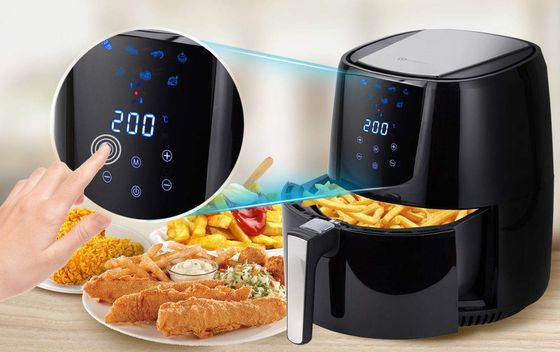 Compact Air Fryer With Golden Fries