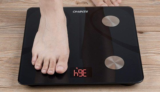 Body Weight Scale With Black Glass Surface