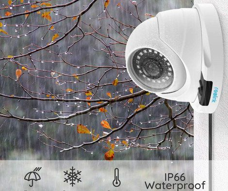 IR Camera On White Outdoor Wall