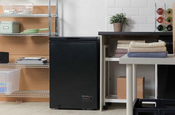 Chest Freezer In Black Finish