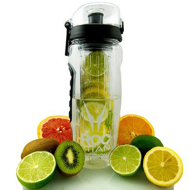 Large Infuser Water Bottle With 2 Limes
