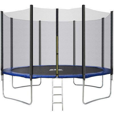 Trampoline With Black Mat And Small Ladder
