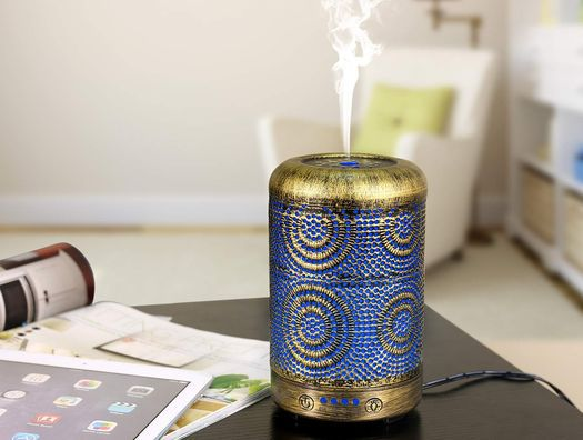 Scent Diffuser In Blue Metal