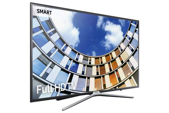 Smart TV With Angled Steel Stand