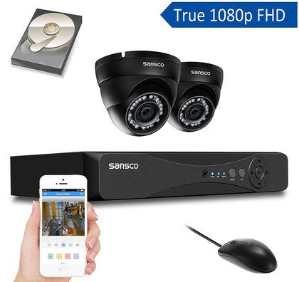 2 Home CCTV Cameras In Black