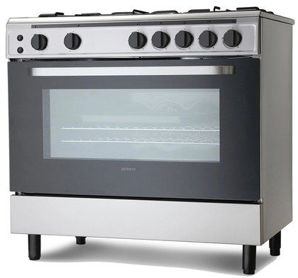 Large Gas Range Cooker In Steel