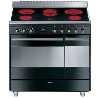 Electric Range Cooker In Black