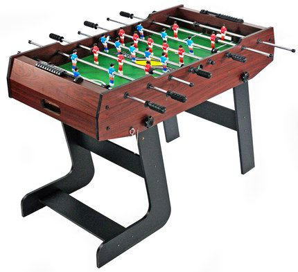 Table Top Football Game In Dark Wood