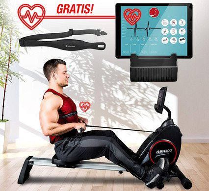 Folding Rowing Machine With HR Screen