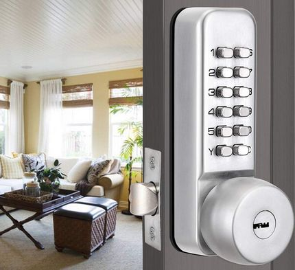 Combination Door Lock With Circular Handle