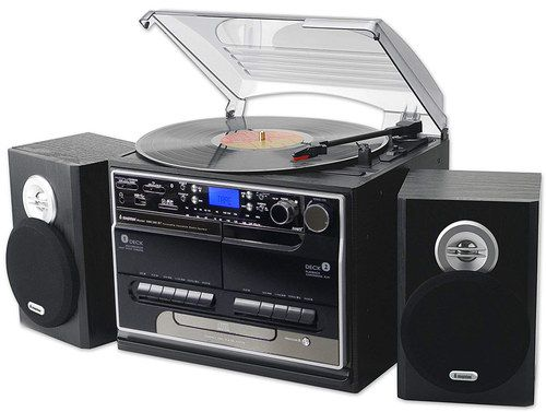 Music System CD Player With Twin Cassette
