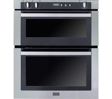 Stylish Steel Under Counter Double Oven