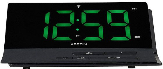 Atomic Alarm Clock In All Black