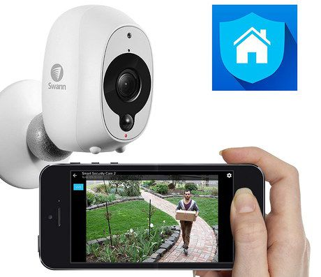 Smart Security Camera Fixed On Wall