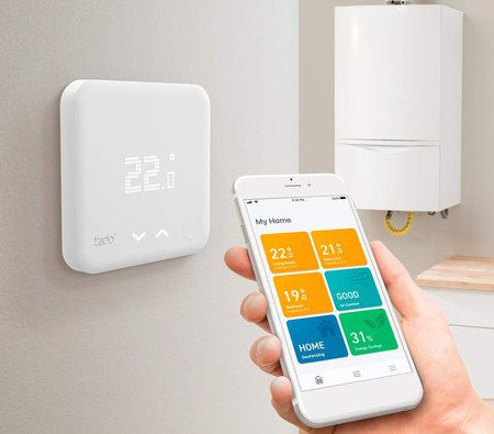 Smart Thermostat Kit In White Fixed On Wall
