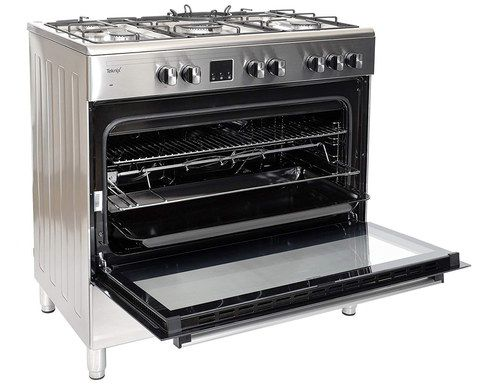 90cm Wide Range Cooker In Steel
