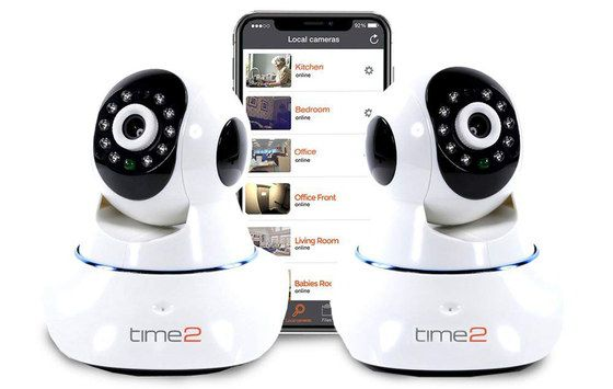 Indoor Cams With IR Showing Black Mobile