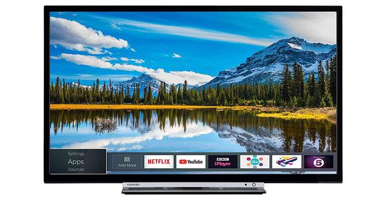 32 Inch TV In Black And Silver