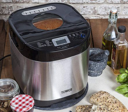 Bread Maker With Chrome Exterior