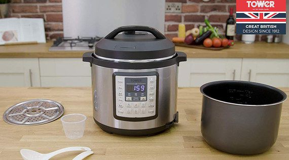 Electric Rice Cooker In Chrome Finish