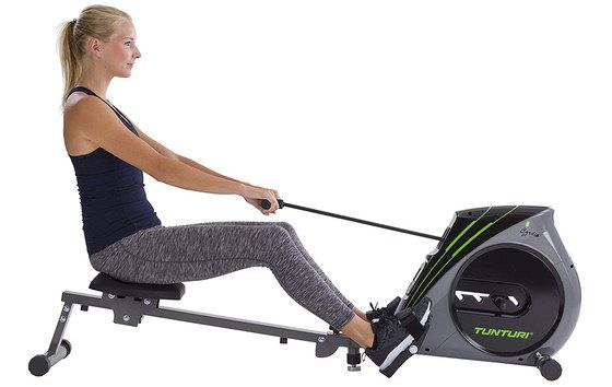 Fold Up Rowing Machine In Grey And Black