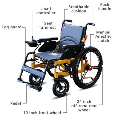 Fold-Up Wheelchair With Breathable Seat