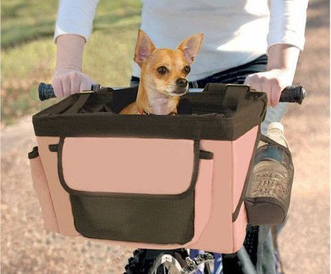 Bike Pet Carrier In Pink Finish