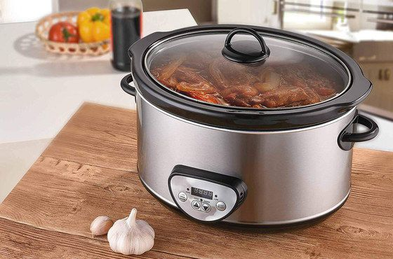 Big Slow Cooker With Steel Glass Lid