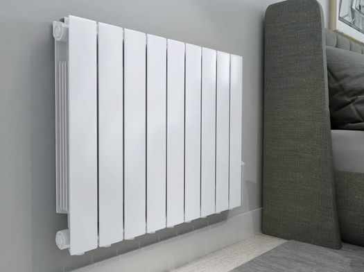 Flat Conservatory Wall Heater In White