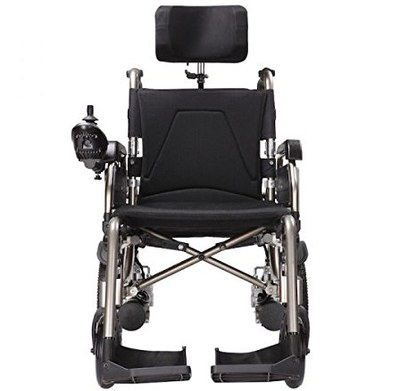 Power Wheelchair In Black And White Finish