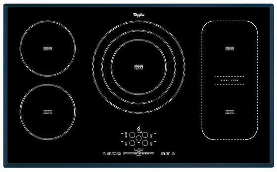 Glossy Induction Hob In Black Glass