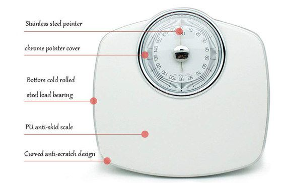 Big Bathroom Weighing Scales With Steel Pointer