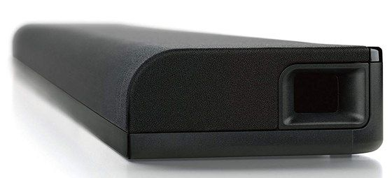 Black WiFi Soundbar With Curved Front