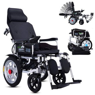 Electric Wheelchair With Metal Footrests